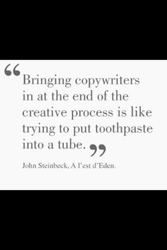Exactly! Now can somebody please tell this to  the brand managers? Copywriting - Timing is everything