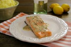 ... roasted salmon with white wine lemon butter sauce roasted salmon with