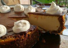 Presszó kávés sült sajttorta Diabetic Recipes, Diet Recipes, Cake Recipes, Hungarian Recipes, Cheesecakes, Tiramisu, Tart, Food And Drink, Pudding