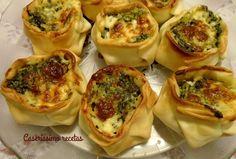 Canastitas de espinaca y mozzarella   Cocina