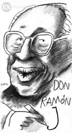 Ramón J. Velásquez. Caricatura de Zapata en la página de Opinión. Caracas, 29-11-2006 (PEDRO LEON ZAPATA / ARCHIVO EL NACIONAL)