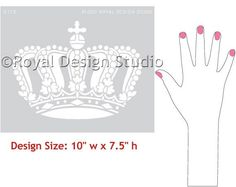Wall Art Stencils   Queen Crown Stencil   Royal Design Studio