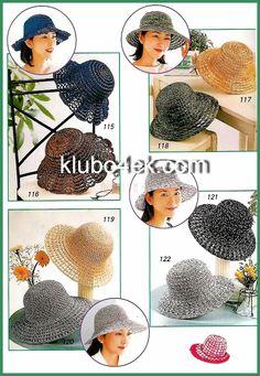 Few summer hats to crochet. Russian site...has big clear charts though. Free crochet pattern