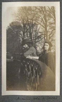 <3 Augustus John; Dorelia McNeill by Lady Ottoline Morrell.  To put this in context, Dorelia McNeil was his long time mistress who lived with him and his first wife, mother of 2 of his 7 children, and later his wife. Lady Ottoline Morell was one of his mistresses.