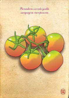 pomodori gialli, ortaggi, illustrazione, arte digitale - Yellow tomatoes, vegetables, illustration, digital art