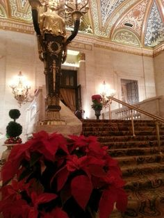 The beautiful lobby at the Palmer House Hilton ~~ Chicago, IL