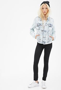 Distressed Acid Wash Denim Jacket | Forever 21 - 2052288140 why are you so expensive?