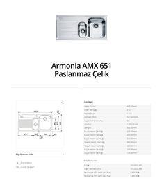 Armonia AMX 651 Paslanmaz Çelik franke  franke Armonia AMX 651 Paslanmaz Çelik