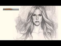How to draw hair, realistic portrait drawing