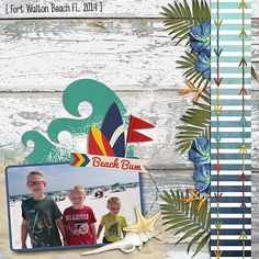 Layout using {Hang Ten} Digital Scrapbook Kit and Bundle by Snips and Snails Designs http://www.thedigichick.com/shop/Hang-Ten-Bundle.html http://www.oscraps.com/shop/product.php?productid=10009269cat=661page=1