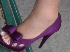 hot purple wedding shoes