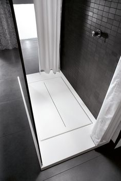 Rectangular Aquatek #shower tray WALK-IN by IdeaGroup #bathroom @IDEAGROUP