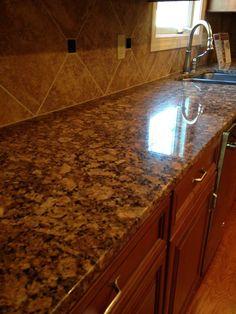 Meteorite White Granite Kitchen Countertop Install For The