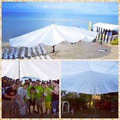 #gardentent #canopy #birthdaytent #tent #weddingtent #eventtent #partytent #canopytent & The name of our tent Parachute was retroactive to its design and ...