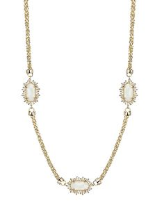 Leighton Long Necklace in White Iridescent - Kendra Scott Jewelry