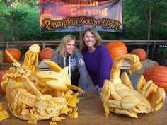 Shipwreck - pumpkin sculpture