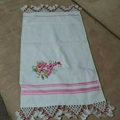 Amazing Turkish style kitchen towel w/ handicraft It is so cute and traditional.. Pink kitchen towel with handicraft. Handicraft has pink beads... Other