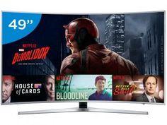 """Smart TV LED Curva 49"""" Samsung 4K Ultra HD - KU6500 Conversor Digital Wi-Fi 3 HDMI 2 USB com as melhores condições você encontra no Magazine Arapuan. Confira! Netflix House, Usb, Samsung 4k, Tv 50"""", Smart Tv 4k, Wi Fi, Ultra Hd 4k, New Theme, Magazine"""
