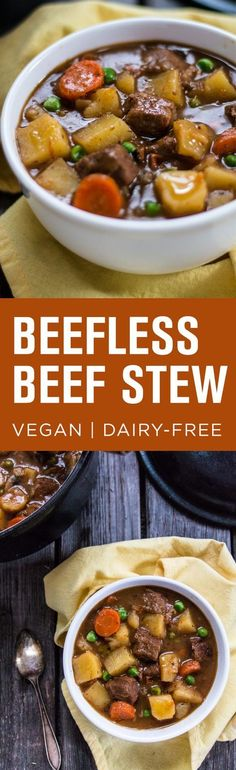 """Delicious """"Beefless"""" Beef Stew with Gardein Beefless Tips."""