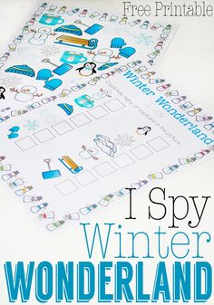 Winter I Spy Printable for Preschoolers -lovely little math printable to enjoy with kids over winter!