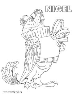 Rio Coloring Pages 15  Tricks  Pinterest  Coloring pages and