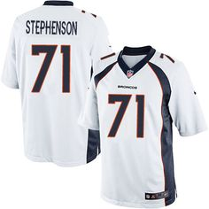 Men's Nike Denver Broncos #71 Donald Stephenson Limited White NFL Jersey