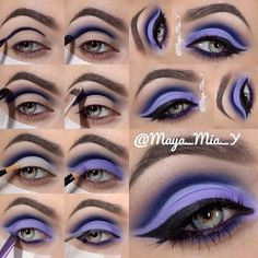 Pretty purple Eye Makeup! #howto #pictorial