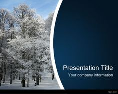 Wintertime PowerPoint Template is a free winter PPT template slide design with ice on the trees and winter theme