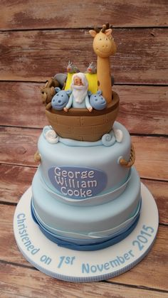 Noahs ark cake www.cakesbykaren.co.uk