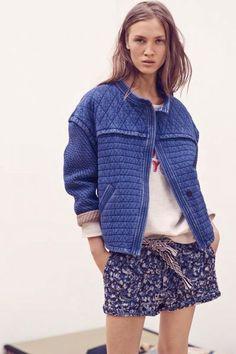 Isabel Marant Etoile Karlen short denim jacket