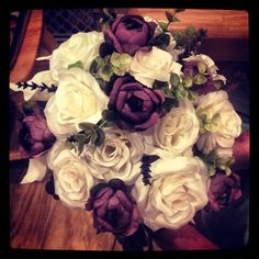 DIY bouquet from flowers at Hobby Lobby bought half price! Love my bouquet.