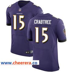 Nike Ravens  15 Michael Crabtree Purple Team Color Men s Stitched NFL Elite  Jersey Baltimore Ravens 88c8f24bf