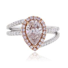 Diamond Engagement Ring Find this beautiful White/Rose Gold Diamond Engagement Ring at Raymond Lee Jewelers in Boca Raton — Palm Beach … Pink Diamond Jewelry, Pink Diamond Engagement Ring, Engagement Ring Styles, Designer Engagement Rings, Diamond Rings, Best Diamond, Pear Shaped Diamond, Ring Verlobung, Beautiful Rings
