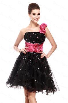 A-Line One-Shoulder Mini/Short-Length Sandra's Prom Dress