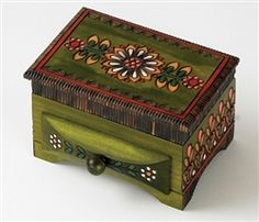 Polish compartment and drawer box.