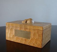 Robert Mouseman Thompson Oak Ashtray Mice Wood