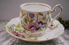 """Royal Albert """"Gloria"""" Tea Cup and Saucer, circa 1940s Would like this for Kiya's room"""