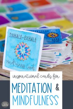 Inhale Positivity and Exhale all the stress and anxiety! Inhale Exhale printable cards come with inspiring messages to encourage mindfulness, reflection and a focus on positive energy. Life can get hectic and everyone needs time for self care! These calming cards are a good reminder to be more mindful, live with intention and enjoy the journey. Sharing these meditative positivity cards is a fun way to spread inspiration to family, friends, fitness Inspirational Message, Inspiring Messages, Motivational Cards, Inhale Exhale, 21st Gifts, Dots Design, Choose Joy, Thoughts And Feelings, Printable Cards