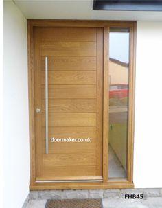 Ideas Contemporary Front Door Design Bricks For 2019 Timber Front Door, Modern Front Door, Double Front Doors, Front Door Design, Porch Doors, Front Door Entrance, Glass Front Door, Front Entrances, Oak Door Frames