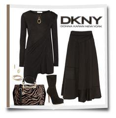 """""""DKNY"""" by arjanadesign ❤ liked on Polyvore featuring Donna Karan, DKNY, dkny and donnakaran"""