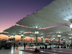 Sunset at Al-Masjid An-Nabawi (the Prophet's Mosque)
