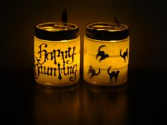 Halloween candle holders choose your design