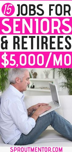 Do you want a side hustle you can do after retirement? Here are 15 work from home jobs for retirees and seniors. Work From Home Opportunities, Work From Home Jobs, Make Money From Home, Way To Make Money, Make Money Online, Learn Online, Part Time Jobs, Retirement Planning, Retirement Money