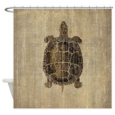 CafePress  Vintage Turtle  Decorative Fabric Shower Curtain * You can find out more details at the link of the image.