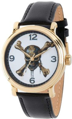 bd765120ae8b Disney Pirates of the Carribean Mens Black Strap Watch-Wds000372