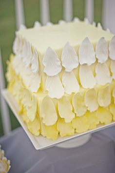 Beautiful lemon ombre cake