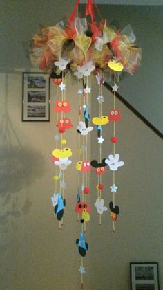 Mickey mouse dream catcher mobile