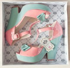 • love cute heels shoes kawaii indie Grunge pink outfit bow platform pastel mint thesourcherry •