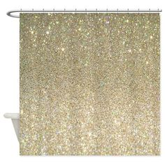 Shop unique Gold Glitter Shower Curtains from CafePress. Great designs on professionally printed shower curtains. Glitter Bathroom, Glitter Shower Curtain, Luxury Shower Curtain, Glitter Room, Glitter Curtains, Black And Gold Bathroom, Fabric Shower Curtains, Bathroom Shower Curtains, Gold Glitter