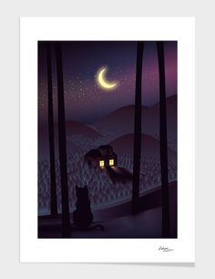 "Curioos.com | ""Silent Watcher"" by Martynas Pavilonis  - Gallery Quality Art Print"
